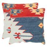 Safavieh Tribal Geometric 2-piece Throw Pillow Set