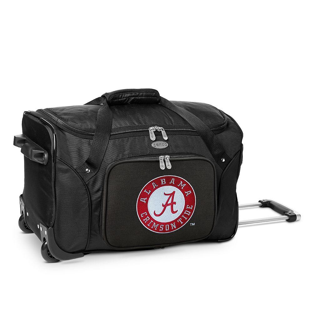 Denco Alabama Crimson Tide 22-Inch Wheeled Duffel Bag