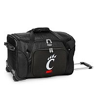 Denco Cincinnati Bearcats 22-Inch Wheeled Duffel Bag