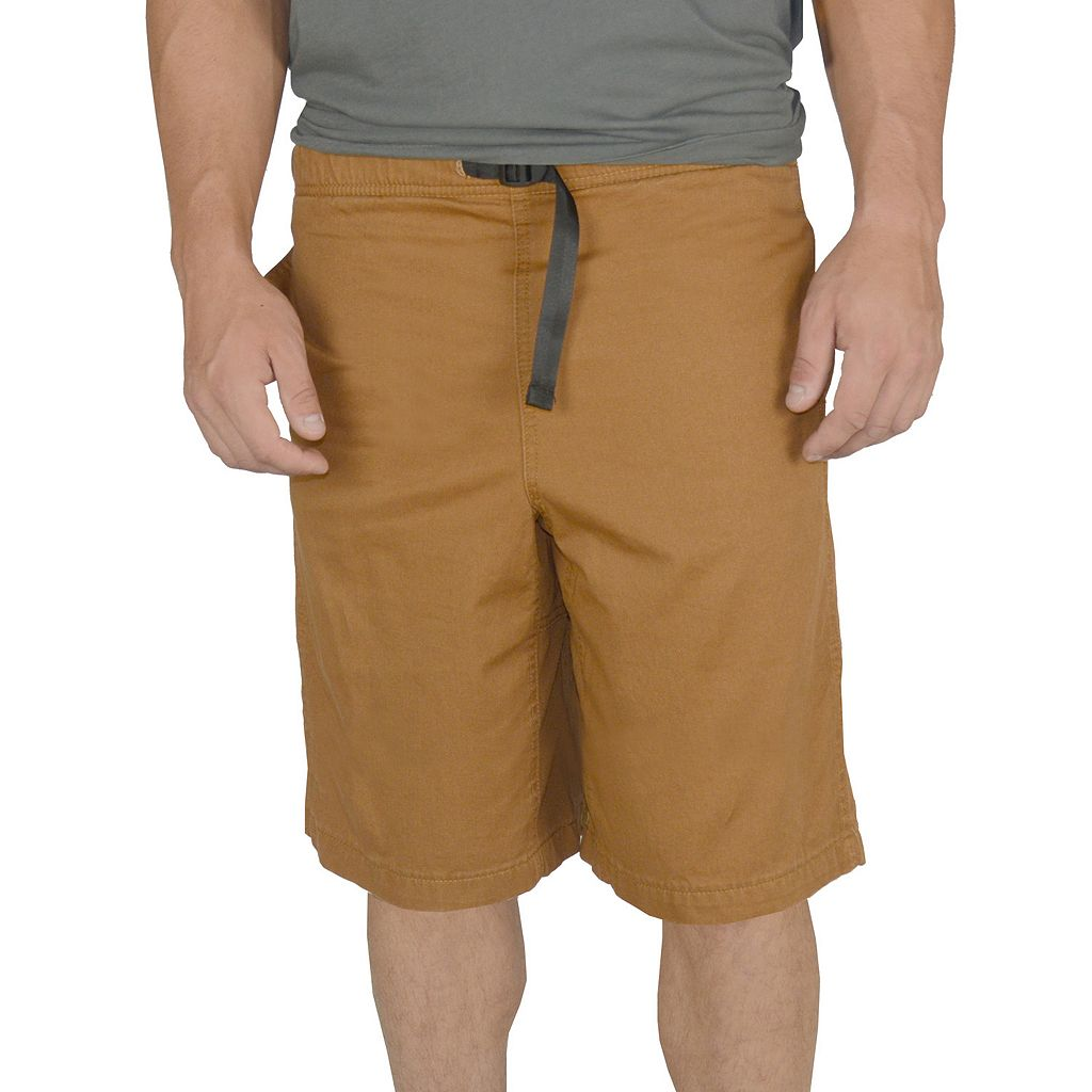 Men's Stanley Classic-Fit Belted Twill Elastic-Waist Shorts