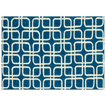 Loloi Venice Beach Squares Indoor Outdoor Rug