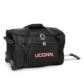 Denco UConn Huskies 22-Inch Wheeled Duffel Bag