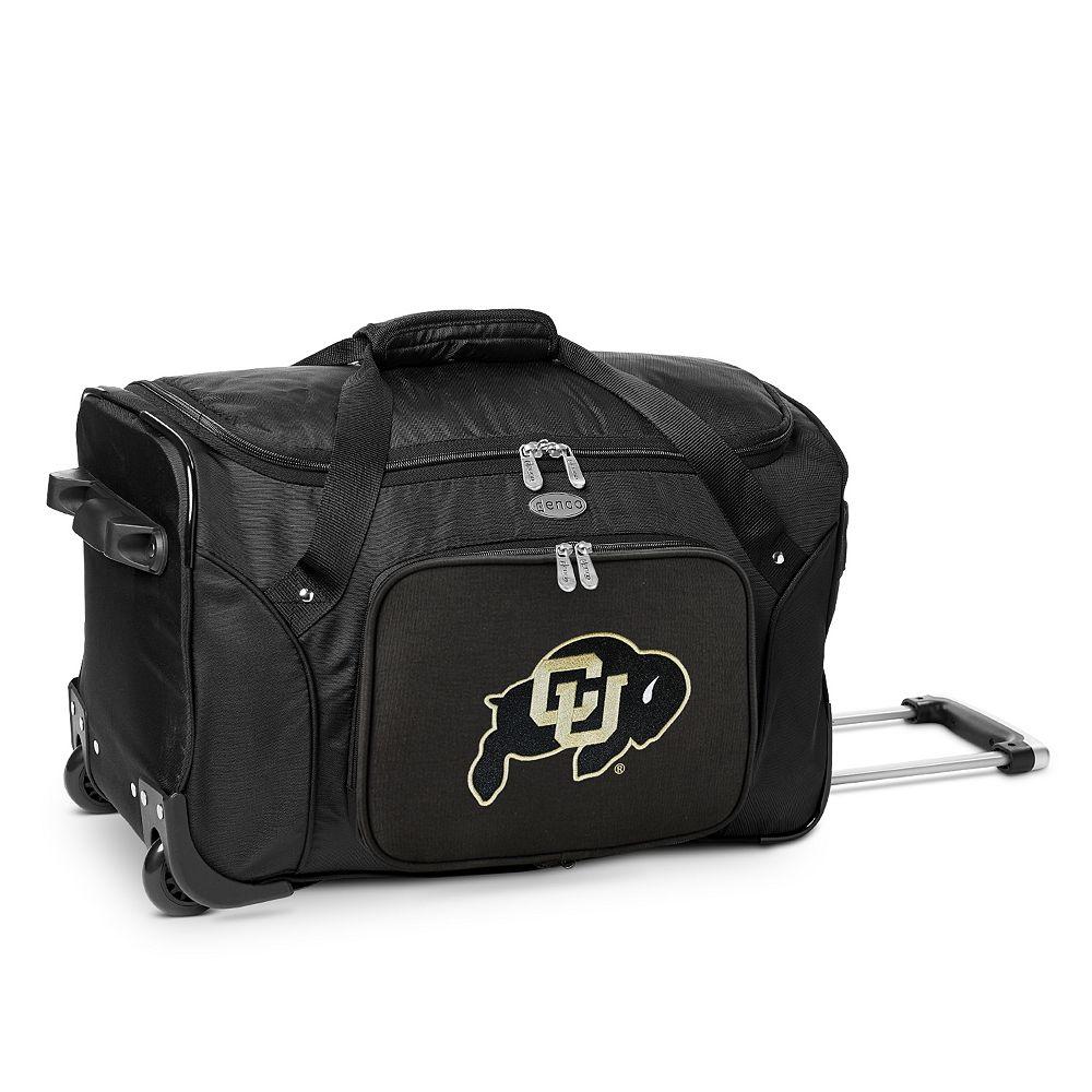 Denco Colorado Buffaloes 22-Inch Wheeled Duffel Bag