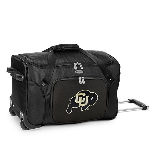 Denco Colorado Buffaloes 22-Inch Wheeled Duffel Bag