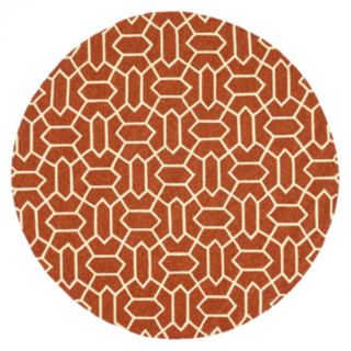 Loloi Venice Beach Geometric Rust Indoor Outdoor Rug