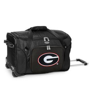 Denco Georgia Bulldogs 22-Inch Wheeled Duffel Bag