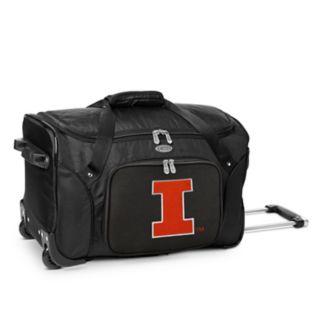 Denco Illinois Fighting Illini 22-Inch Wheeled Duffel Bag