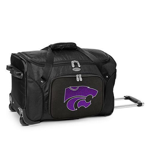 Denco Kansas State Wildcats 22-Inch Wheeled Duffel Bag