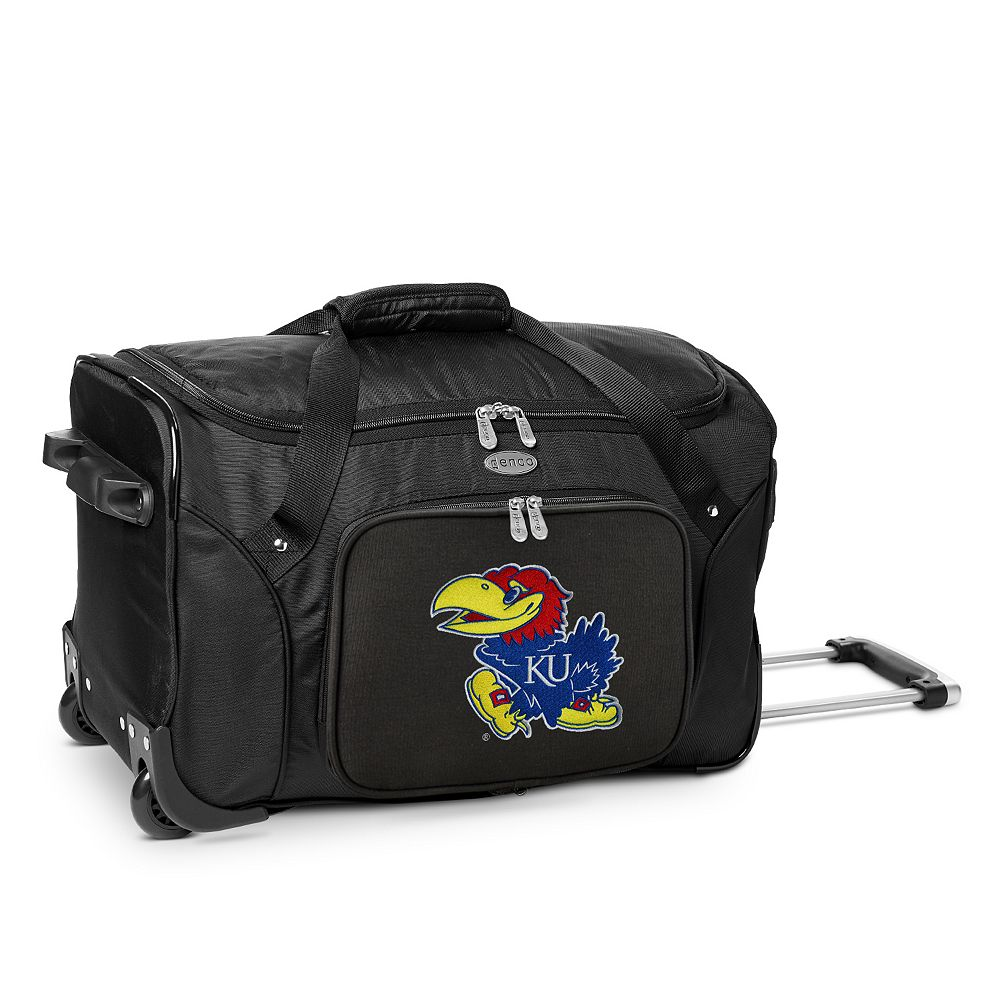 Denco Kansas Jayhawks 22-Inch Wheeled Duffel Bag