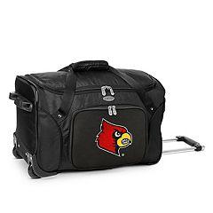 Denco Louisville Cardinals 22-Inch Wheeled Duffel Bag