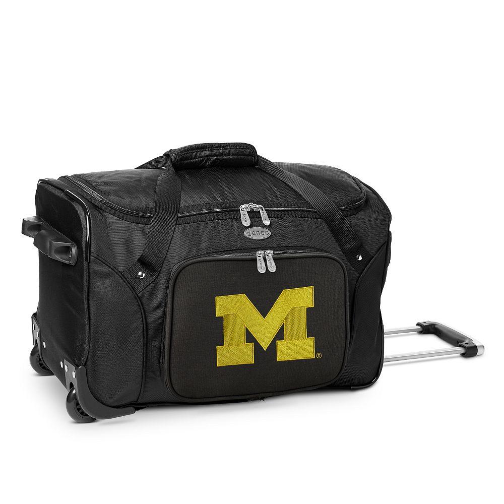 Denco Michigan Wolverines 22-Inch Wheeled Duffel Bag