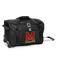 Denco Maryland Terrapins 22-Inch Wheeled Duffel Bag