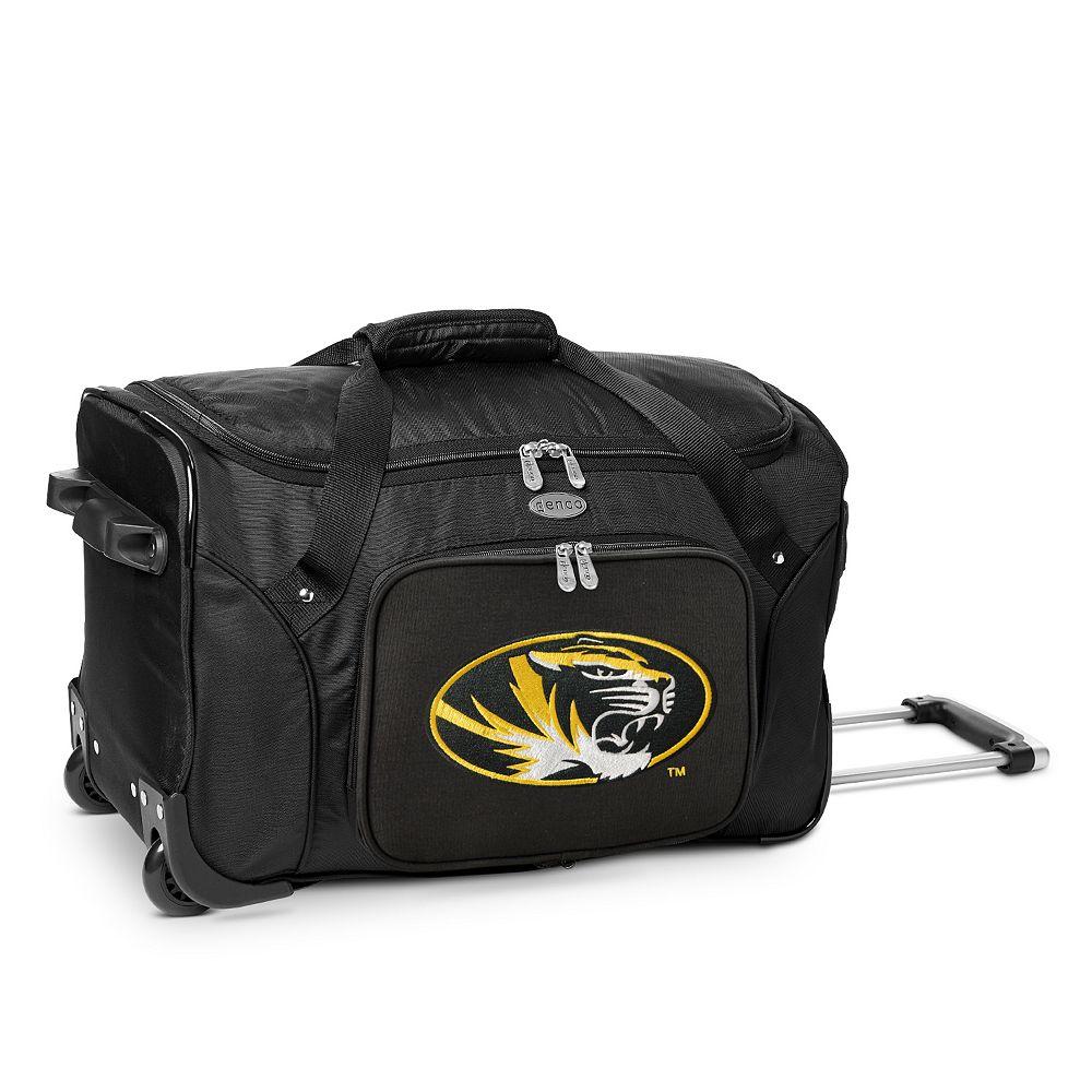 Denco Missouri Tigers 22-Inch Wheeled Duffel Bag
