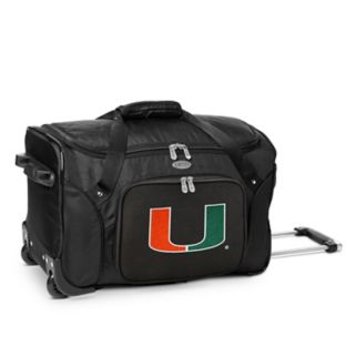 Denco Miami Hurricanes 22-Inch Wheeled Duffel Bag