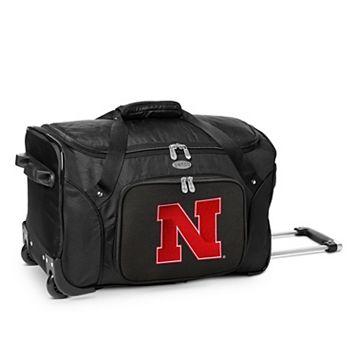 Denco Nebraska Cornhuskers 22-Inch Wheeled Duffel Bag