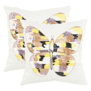 Safavieh 2-piece Papillon Throw Pillow Set