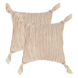 Safavieh 2-piece Ruche Knots Throw Pillow Set