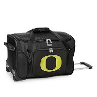 Denco Oregon Ducks 22-Inch Wheeled Duffel Bag