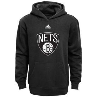 Boys 8-20 adidas Brooklyn Nets Prime Pullover Fleece Hoodie