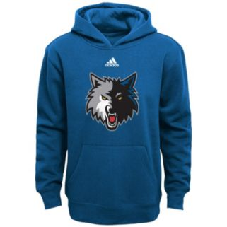 Boys 8-20 adidas Minnesota Timberwolves Prime Pullover Fleece Hoodie