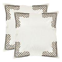 Safavieh 2 pc Edgy Metals Throw Pillow Set