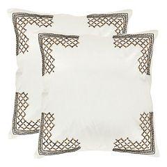 Safavieh 2-piece Edgy Metals Throw Pillow Set