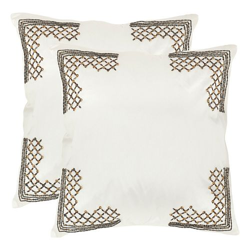 Safavieh 2-piece Edgy Metals Throw Pillow Set