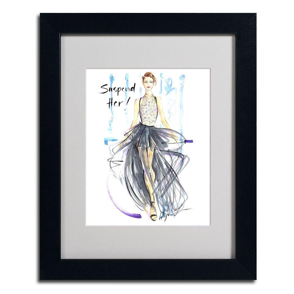 """Trademark Fine Art """"Suspend Her"""" Framed Canvas Wall Art"""