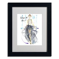 Trademark Fine Art 'Suspend Her' Framed Canvas Wall Art
