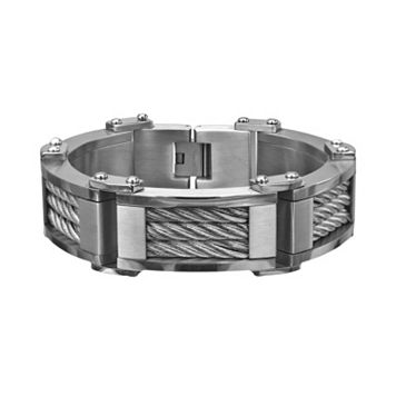 Stainless Steel Cable Bracelet - Men