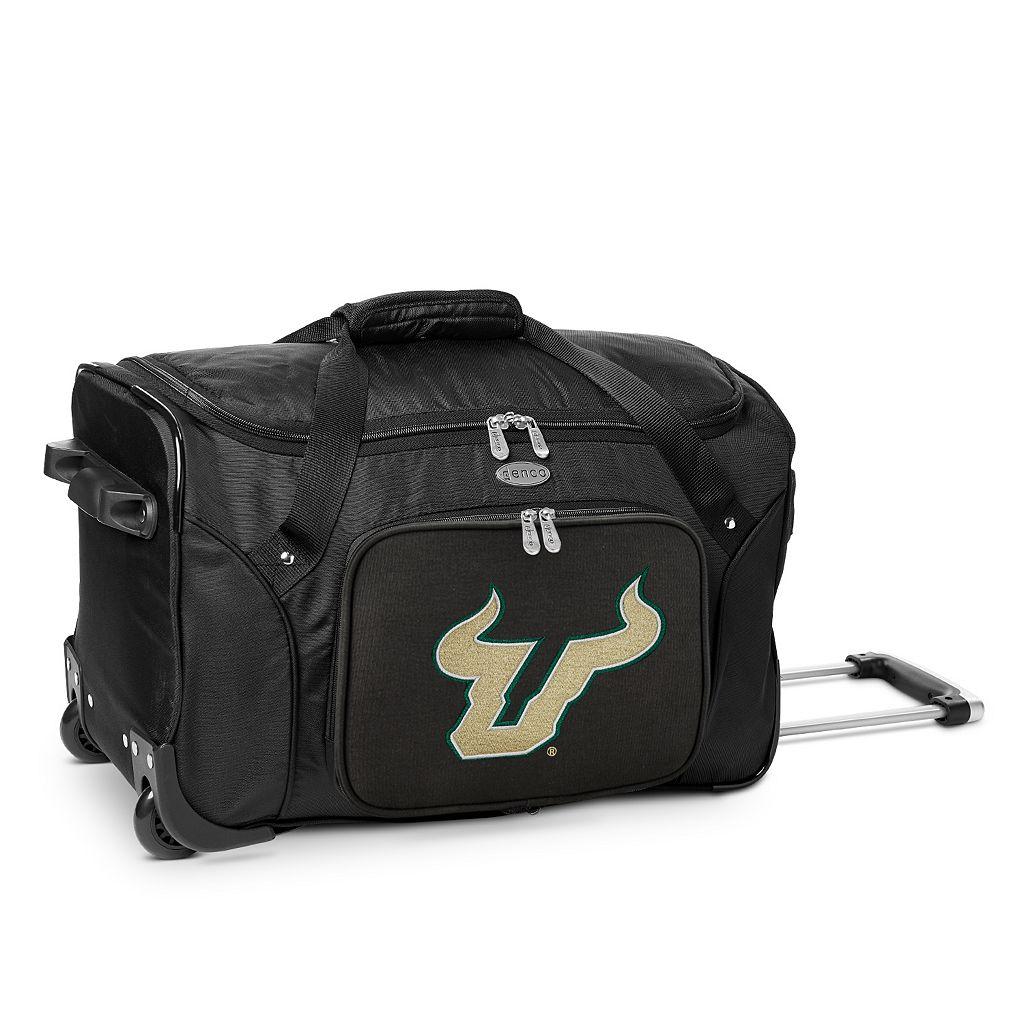 Denco South Florida Bulls 22-Inch Wheeled Duffel Bag