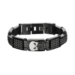The Punisher Black Ion-Plated Stainless Steel Spike Bracelet - Men