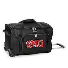 Denco SMU Mustangs 22-Inch Wheeled Duffel Bag