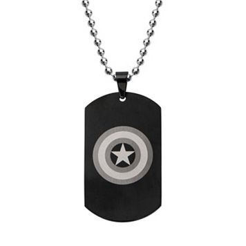 Stainless Steel Captain America Dog Tag Necklace