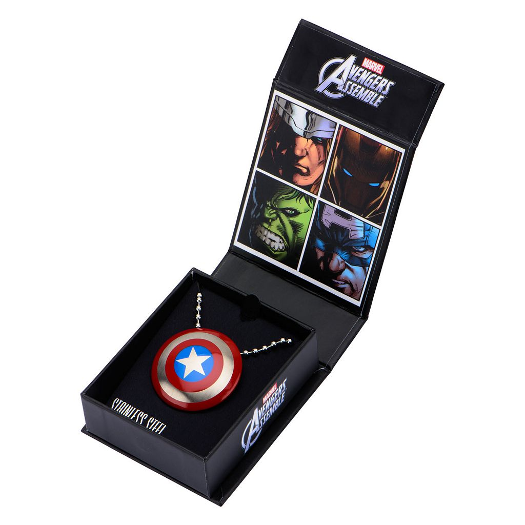 Captain America Stainless Steel Pendant Necklace - Men