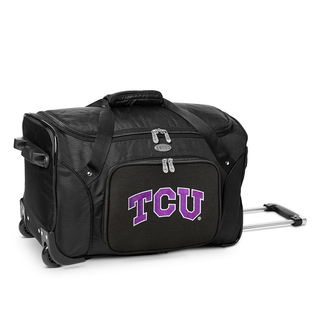 Denco TCU Horned Frogs 22-Inch Wheeled Duffel Bag