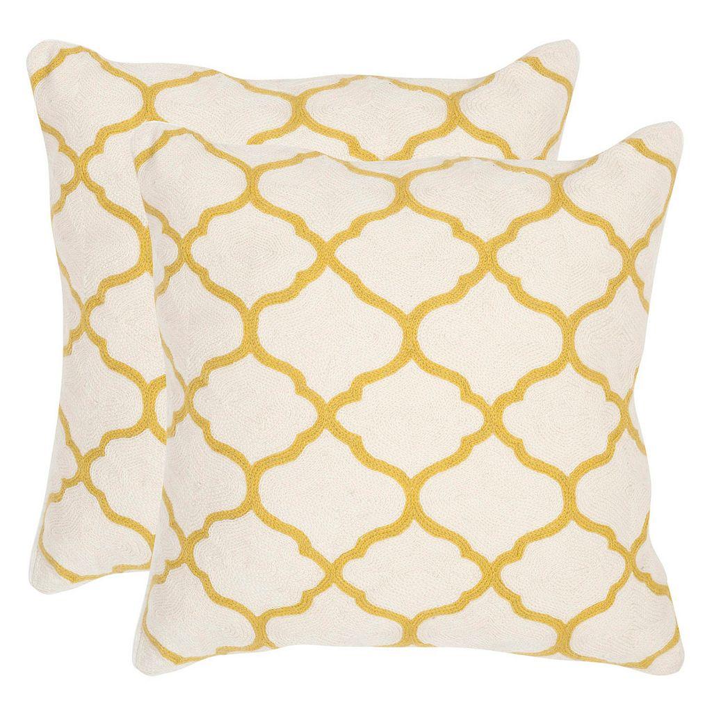 Safavieh 2-piece Rhea Square Throw Pillow Set
