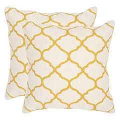 Safavieh 2 pc Rhea Square Throw Pillow Set