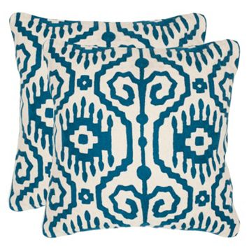 Safavieh 2-piece Tennes Square Throw Pillow Set