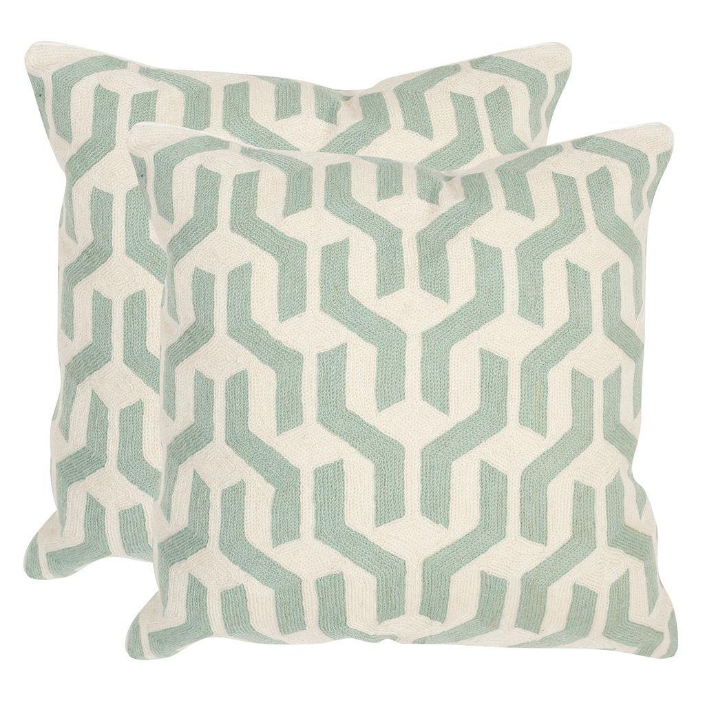 Safavieh 2-piece Minos Square Throw Pillow Set