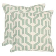 Safavieh 2 pc Minos Square Throw Pillow Set