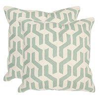 Safavieh 2 pc Minos Square Throw Pillow Set