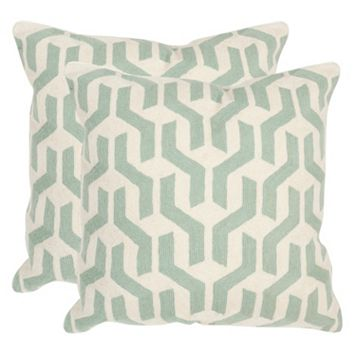 Safavieh 2-piece Minos Square Throw Pillow Set