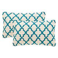 Safavieh 2-piece Sandre Oblong Throw Pillow Set