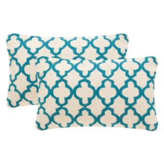Safavieh 2-piece Sandre Oblong Throw Pillow Set