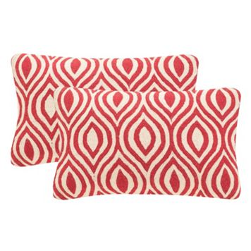 Safavieh 2-piece Metis 12'' x 20'' Throw Pillow Set