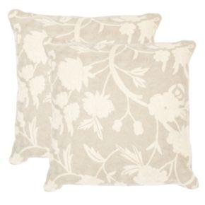 Safavieh 2-piece Vannes 20'' x 20'' Throw Pillow Set