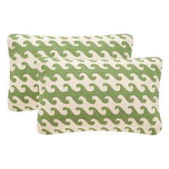 Safavieh 2-piece Linos 12'' x 20'' Throw Pillow Set