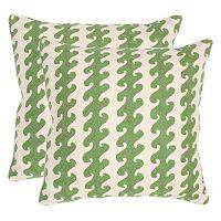 Safavieh 2 pc Linos 20'' x 20'' Throw Pillow Set
