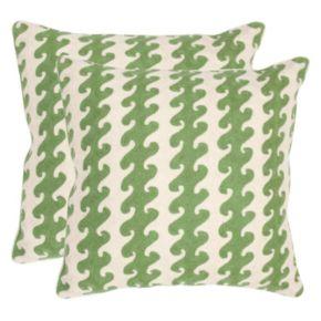 Safavieh 2-piece Linos 20'' x 20'' Throw Pillow Set